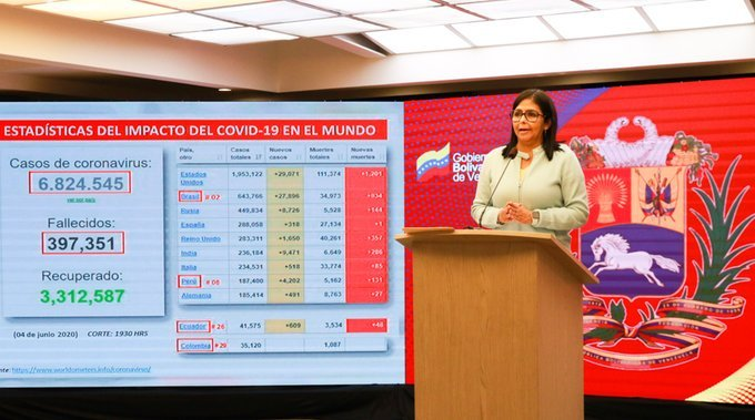 Delcy-Rodríguez-vocera-del-régimen-