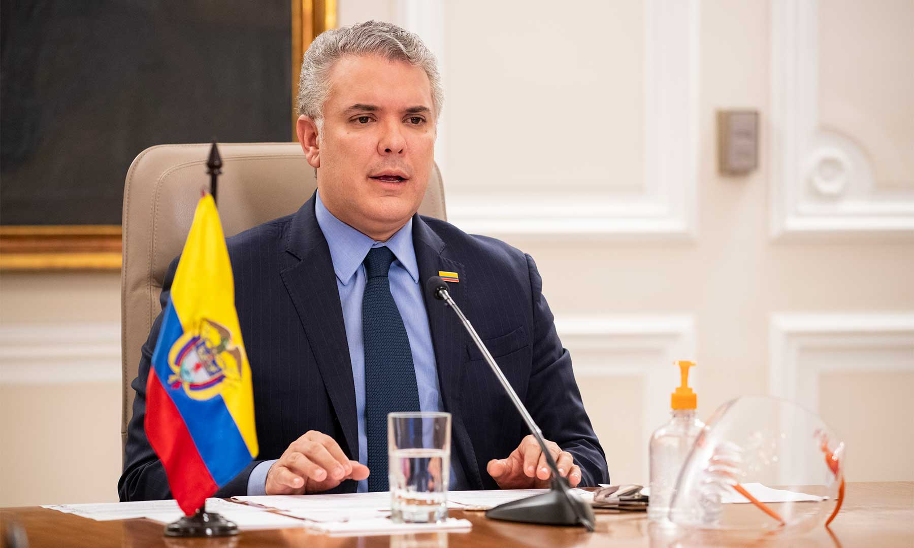El presidente de Colombia, Iván Duque, apoyó este viernes el llamado de la coalición internacional a desconocer y rechazar