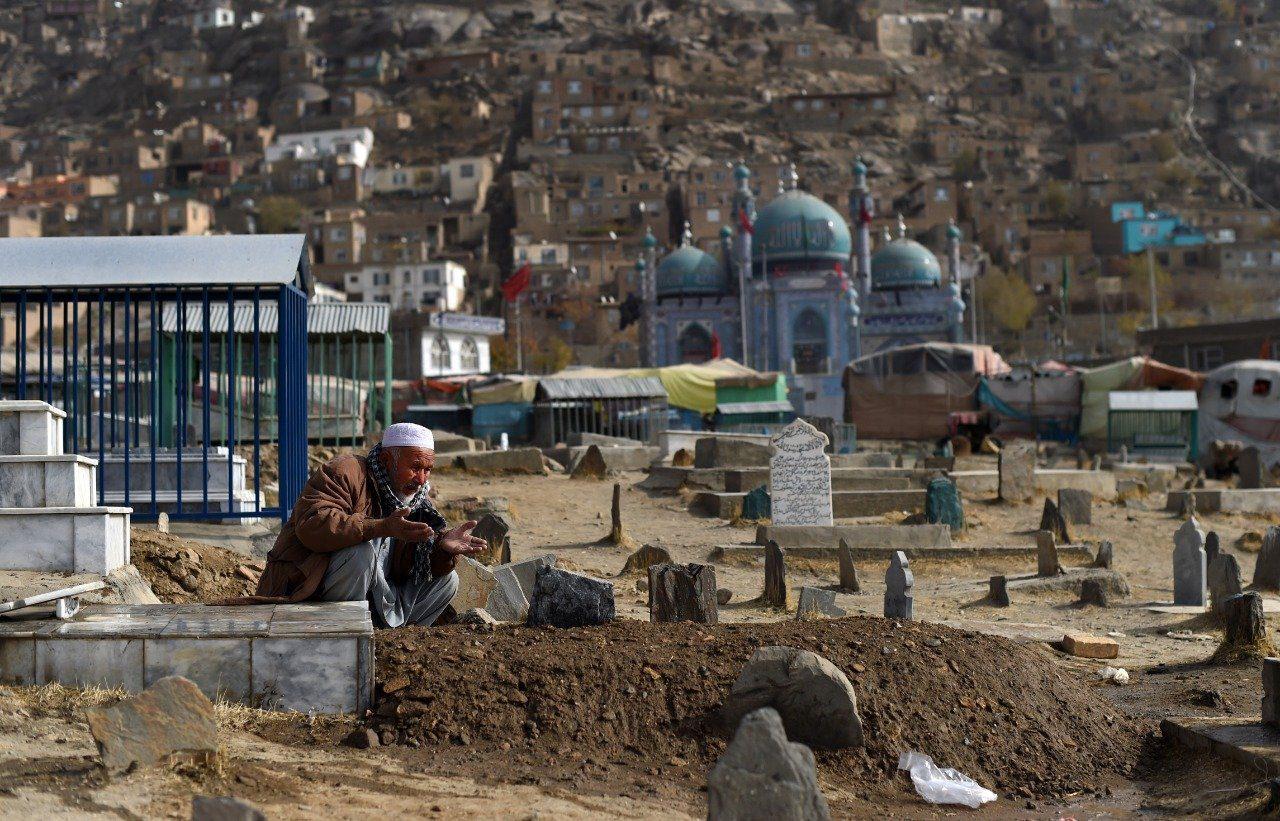 Segundo atentado a una mezquita en menos de una semana en Kabul, Afganistán. Foto: AFP