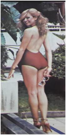 Una gráfica de cuando Jeannette Rodríguez estuvo en el Miss Venezuela. Foto: Cortesía Andrés Carmona