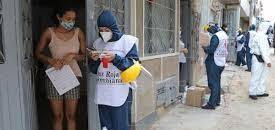Covid Colombia, entrega ayudas Cruz Roja