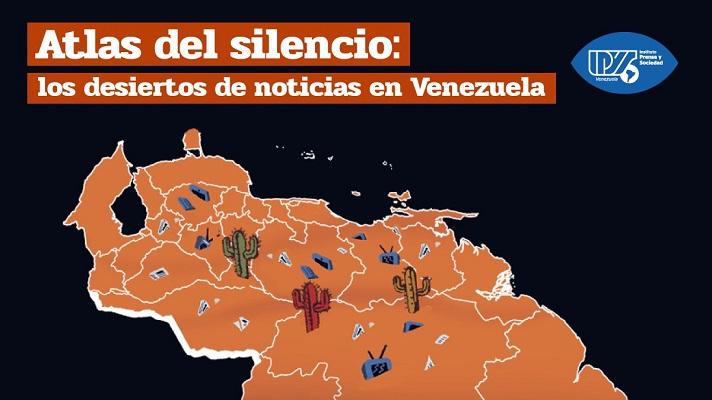 """5.271.753 de venezolanos viven casi a ciegas. Es decir, con acceso limitado a noticias locales o nacionales, o de algún tipo. Así lo concluye la investigación """"Atlas del silencio: los desiertos de noticias en Venezuela"""", realizada por el Instituto Prensa y Sociedad de Venezuela, IPYS Venezuela."""