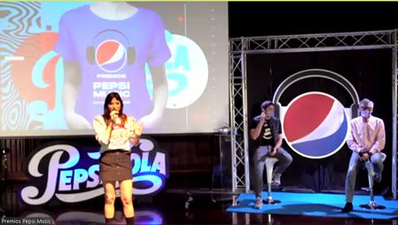 Jairam Navas moderó los anuncios de los Premios Pepsi Music 2020. Captura de Zoom