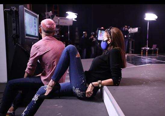Nina Sicilia durante las grabaciones del Miss Venezuela 2020. Foto: Instagram