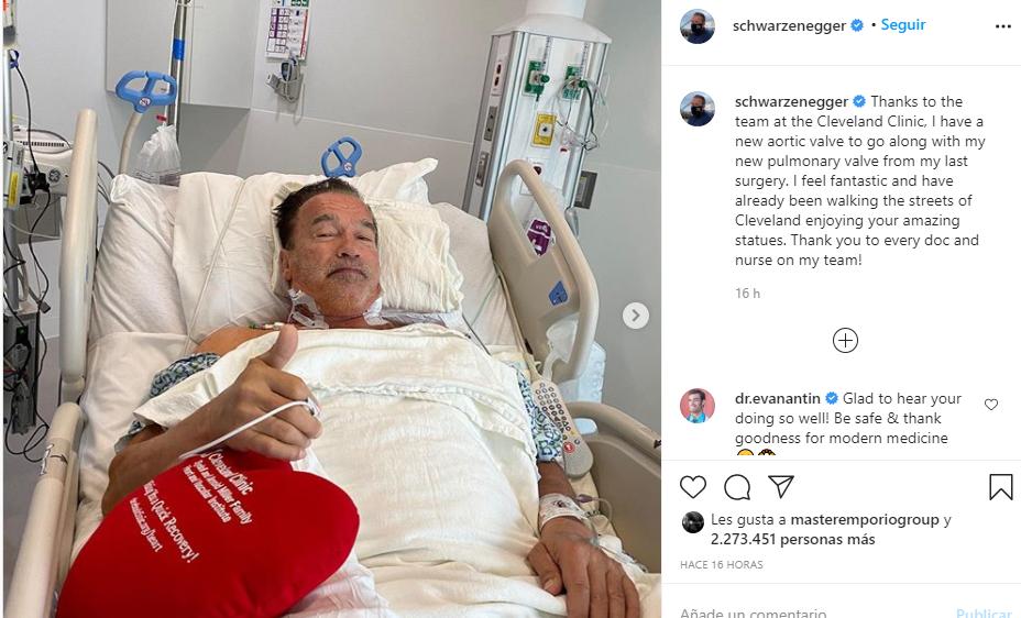 Con esta publicación Arnold Schwarzenegger se encargó de evitar rumores. Foto: Instagram