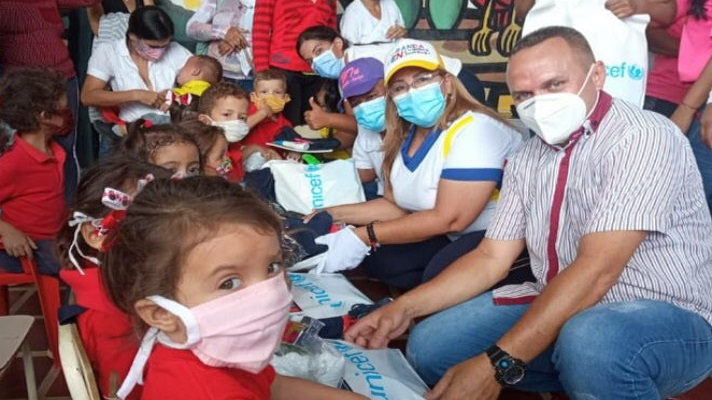 """La agencia de las Naciones Unidas para la Infancia (Unicef) llamó """"a todos los actores políticos a no instrumentalizar la ayuda humanitaria que se distribuye en Venezuela"""