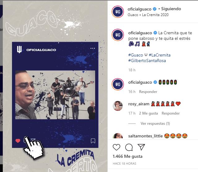 """""""La cremita"""" reúne nuevamente a los artistas. Foto: Instagram"""