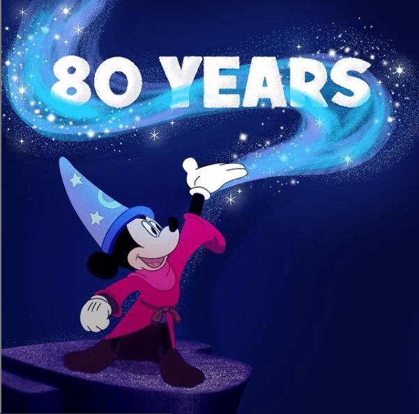 """Mickey Mouse en """"Fantasía"""" es uno de los clásicos de Hollywood. Foto: Instagram"""