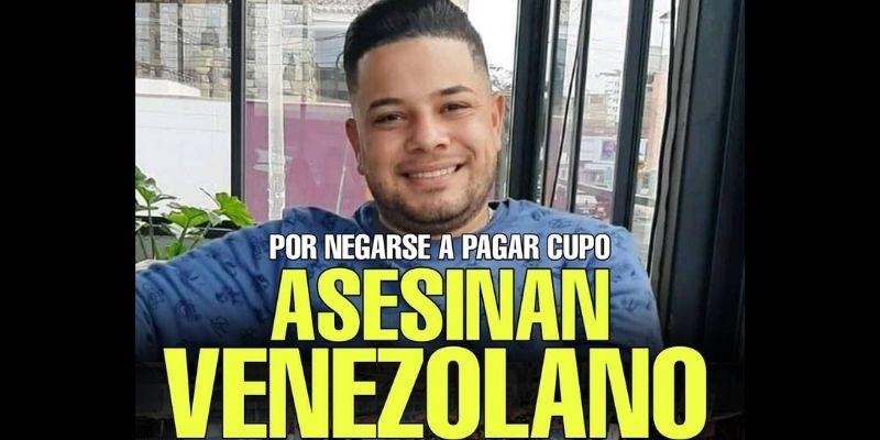 UN ATROZ CRIMEN: venezolano fue asesinado a balazos en Perú