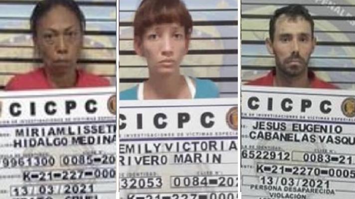 Detienen al padre, madre y abuela de adolescentes que aparecieron en Curiepe