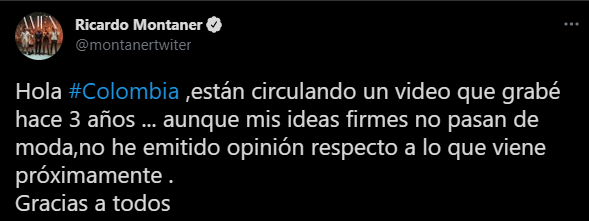 El tuit de Montaner donde aclara lo viral. Foto: Twitter