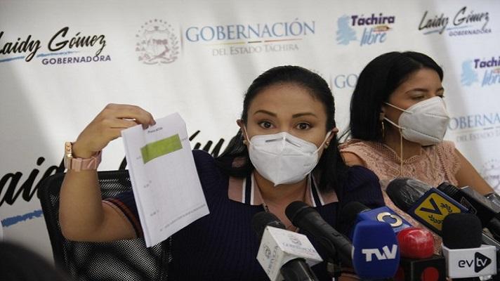 La gobernadora del estado Táchira, Laidy Gómez, anunció que no retirará la denuncia contra las Fuerzas de Acciones Especiales (FAES).