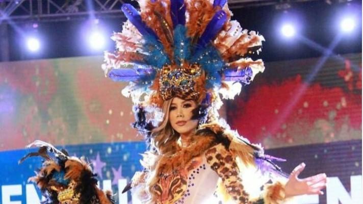 Venezolana en el top 10 del traje típico del Miss Eco