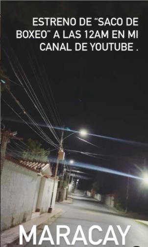 La calle alumbrada en la cuenta de Nacho. Foto: Instagram