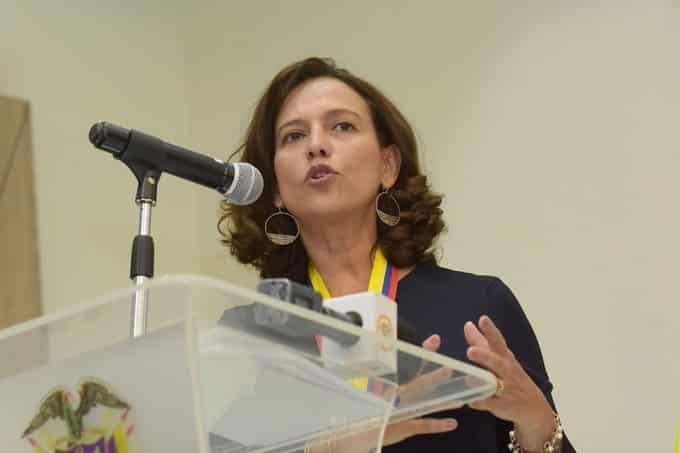 Nancy Patricia Gutiérrez, consejera presidencial para los Derechos Humanos en Colombia.