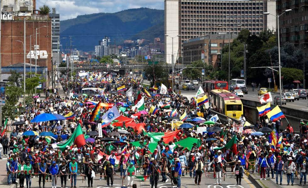 SE mantienen medidas anticovid en Bogotá por marchas