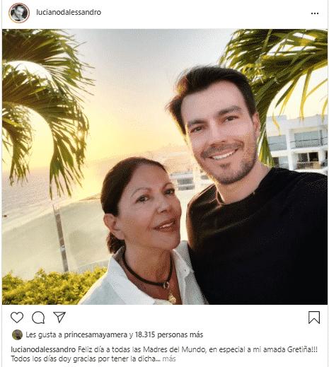 Luciano D'Alessandro también honró a su madre. Foto Instagram
