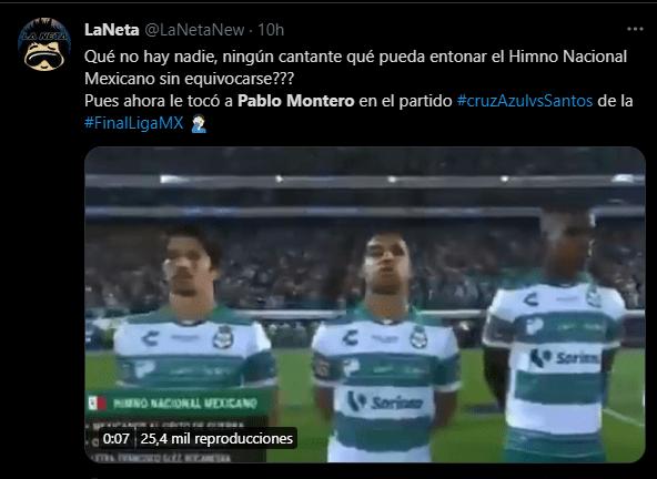 Los memes por la equivocación de Pablo Montero se multiplicaron en Twitter.