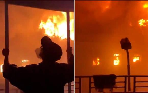 Disturbios en Tuluá terminan en incedio por parte de vándalos del Palacio de Justicia