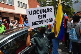 Protesta en Caracas por suspensión de jornada de vacunación por ser el Día del Padre