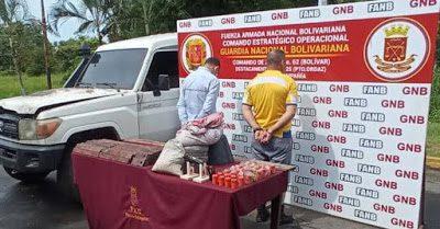 LOS AGARRARON con material explosivo en el estado Bolívar