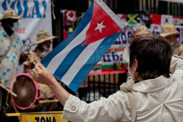 Protesta en Cuba el 11 de julio de 2021