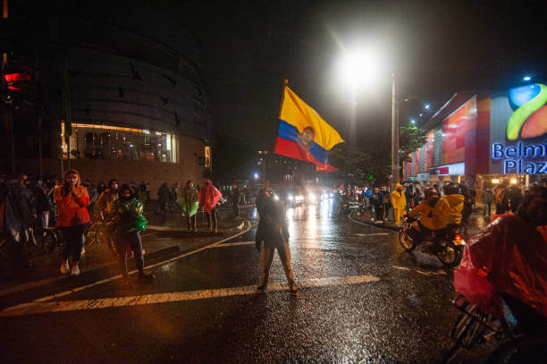 manifestante en marchas de Colombia