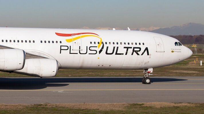 Un juzgado de Madrid suspendió el rescate financiero de la aerolínea Plus Ultra. El capital social es español mayoritariamente. Pero algunos de sus accionista son venezolanos o tienen doble nacionalidad española-venezolana, según la propia empresa.
