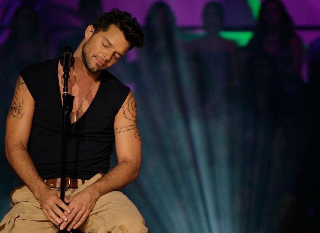 Ricky Martin durante una de sus galas