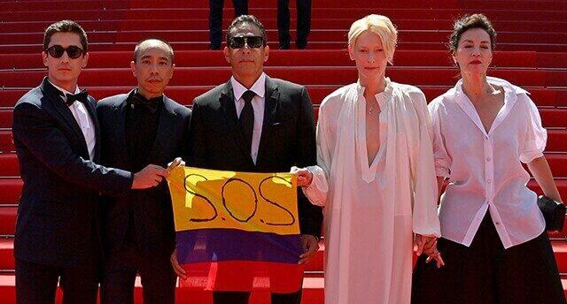 Protagonistas de 'Memoria' exaltan situación social de Colombia en festival de Cannes