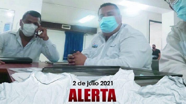 Javier Tarazona y otros activistas de DD.HH. fueron detenidos por el Sebin, en Coro. Foto cortesía