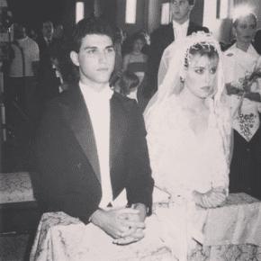 Pilín León el día de su boda con Teodoro Pérez. Foto Instagram