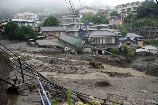 Deslizamiento de tierra a causa de intensas lluvias en Japón