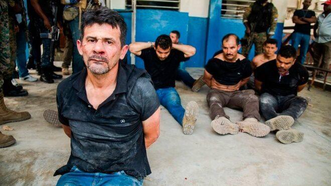 militares colombianos capturados en Haití