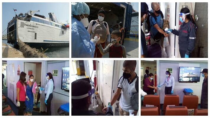 Más de 700 venezolanos retornaron este domingo al país por vía marítima desde Trinidad y Tobago. Lo hicieron a través del