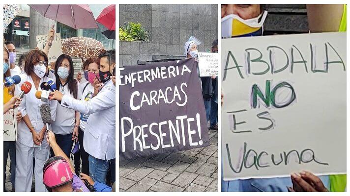 El Colegio de Enfermeros de Caracas y varios docentes reclamaron este viernes por el anuncio del levantamiento de las restricciones contra la COVID-19, entre ellas el 7x7. Refutan la advertencia de Nicolás Maduro, porque consideran que el país no está preparado.