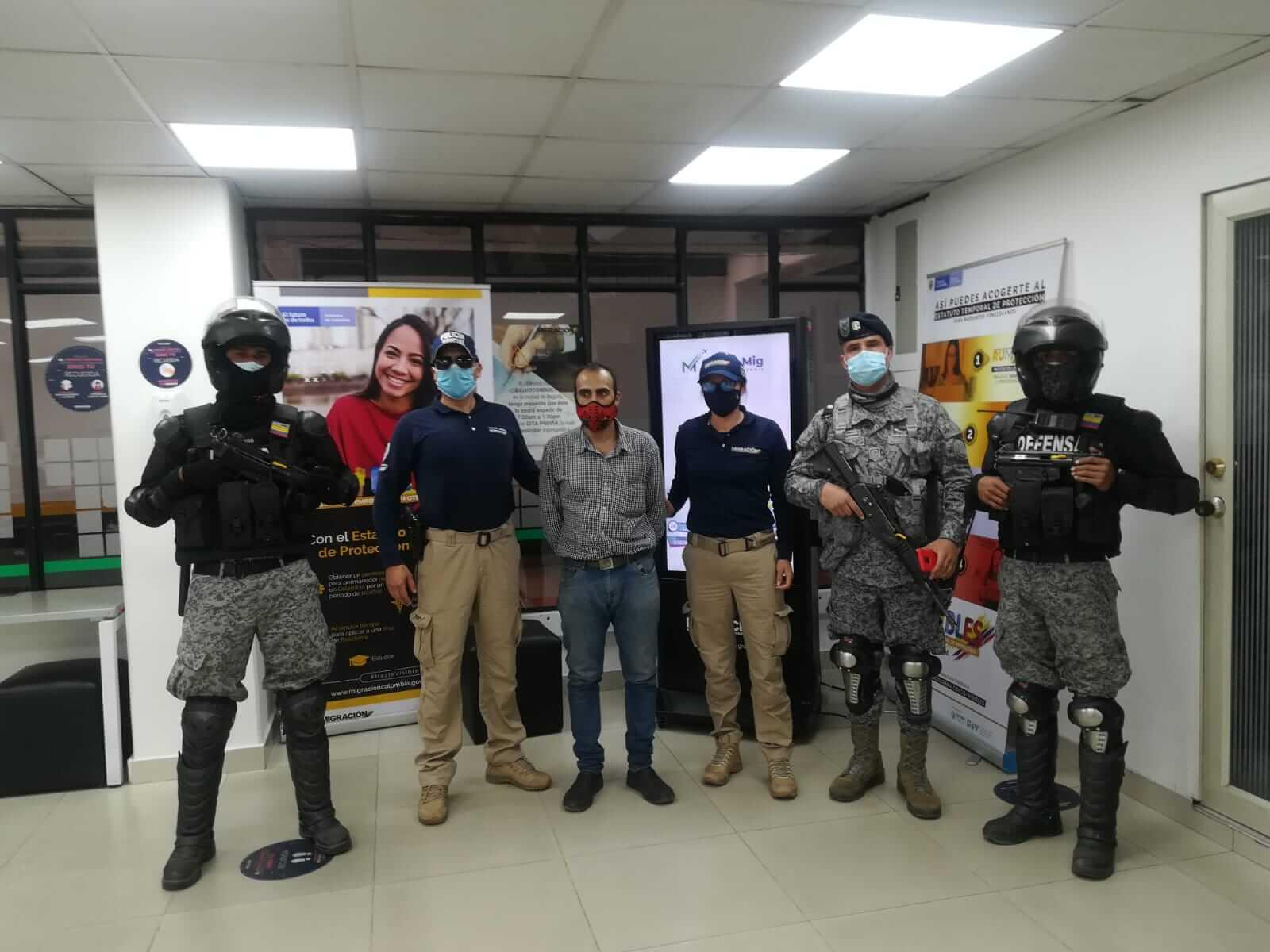 Samer Al Hasanieh fue detenido en el municipio de Madrid, muy cerca a la pista del aeropuerto El Dorado de Bogotá.