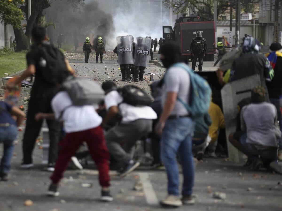 Enfrentamientos con el Esmad en Popayán