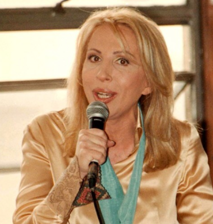 Laura Bozzo hizo su propia defensa en Perú en 2002. Foto AFP