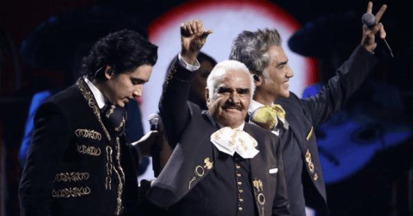 Álex, Alejandro y Vicente Fernández. Foto AFP
