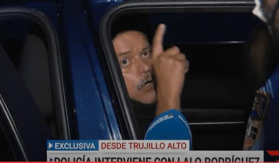 Lalo Rodríguez se molestó por lo que le sucedió. Foto captura YouTube