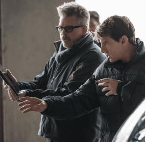 Tom Cruise en el rodaje de su nueva misión. Foto Instagram