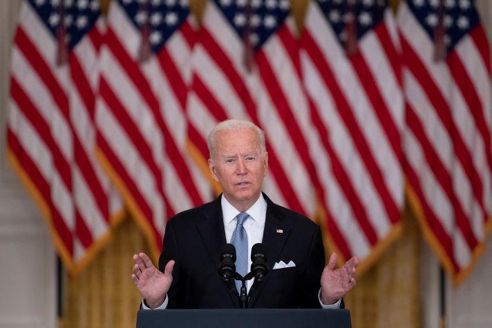 Biden habla del retiro de tropas estadounidenses de Afganistán y toma de talibanes de ciudades