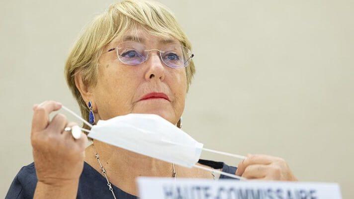 Michelle Bachelet presentó el informe sobre Venezuela en la 48 sesión del Consejo de DD.HH. de la ONU. Foto cortesía