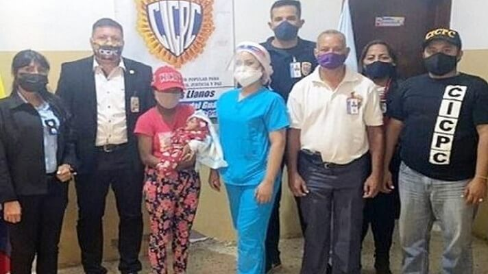 Funcionarios del Cicpc rescataron a un bebé recién nacido, raptado del Hospital Doctor José Francisco Torrealba, en el estado Guárico.