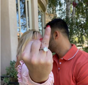 La publicación que compartió el prometido sobre la joya que le dio a Britney Spears. Foto Instagram