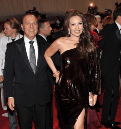 Thalía y su esposo, Tommy Mottola. Foto AFP
