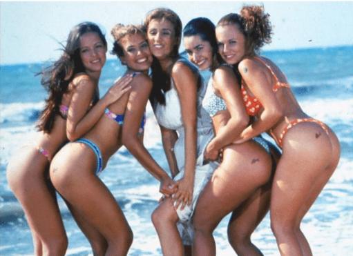 Las niñas Juanas de 1997. Foto cortesía